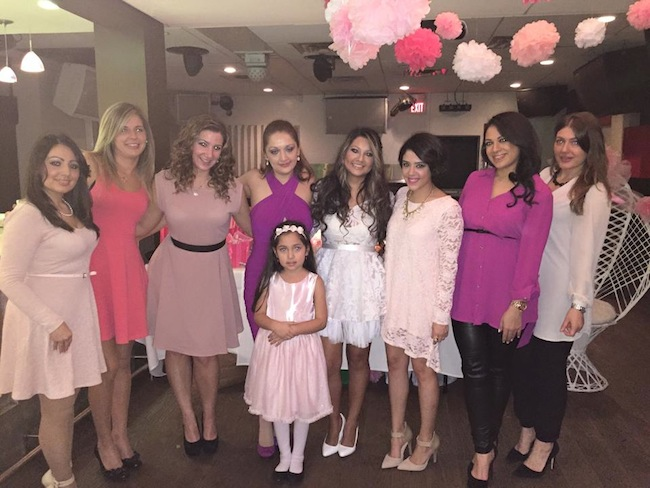For The Bridal Shower She Had All Bridesmaids Wear Diffe Shades Of Pink