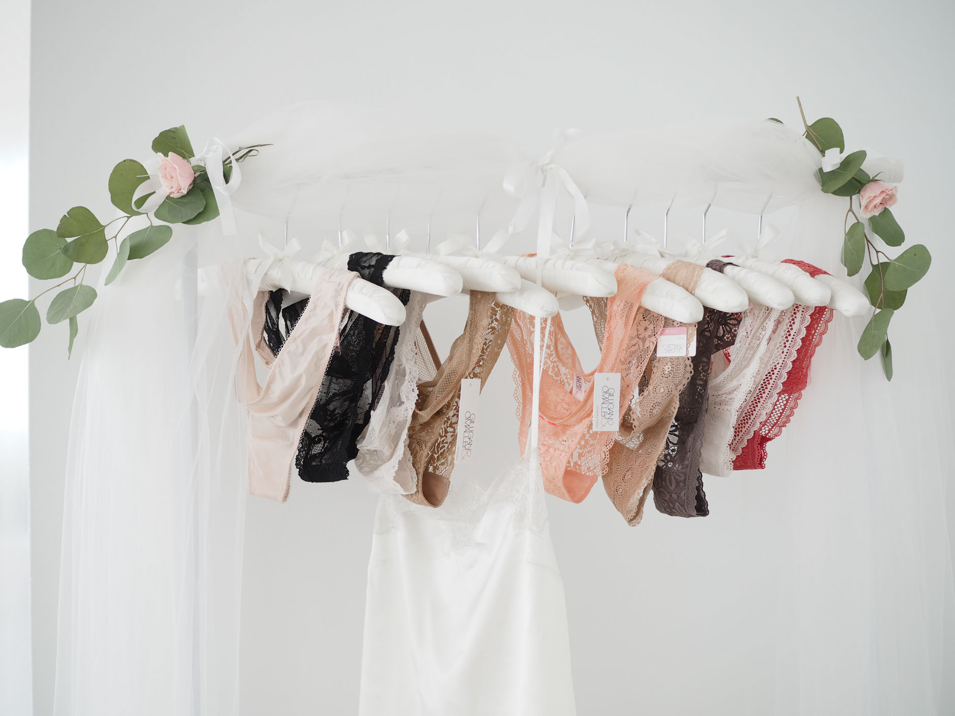 lingerie rack idea for bridal shower
