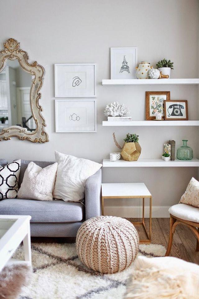 Floating Shelves Studio Apartment Inspo