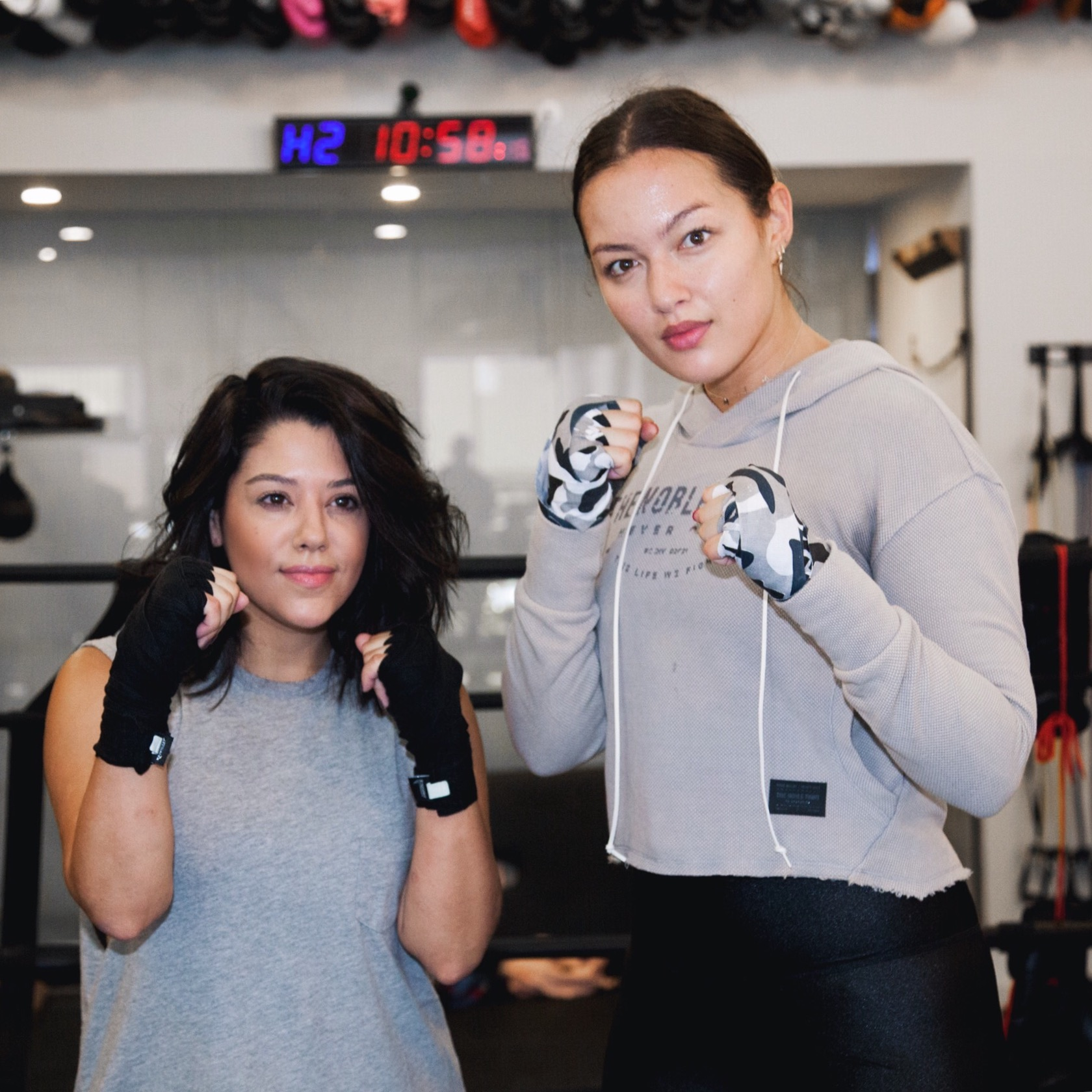 lifestyle blogger naty michele with Mia Kang