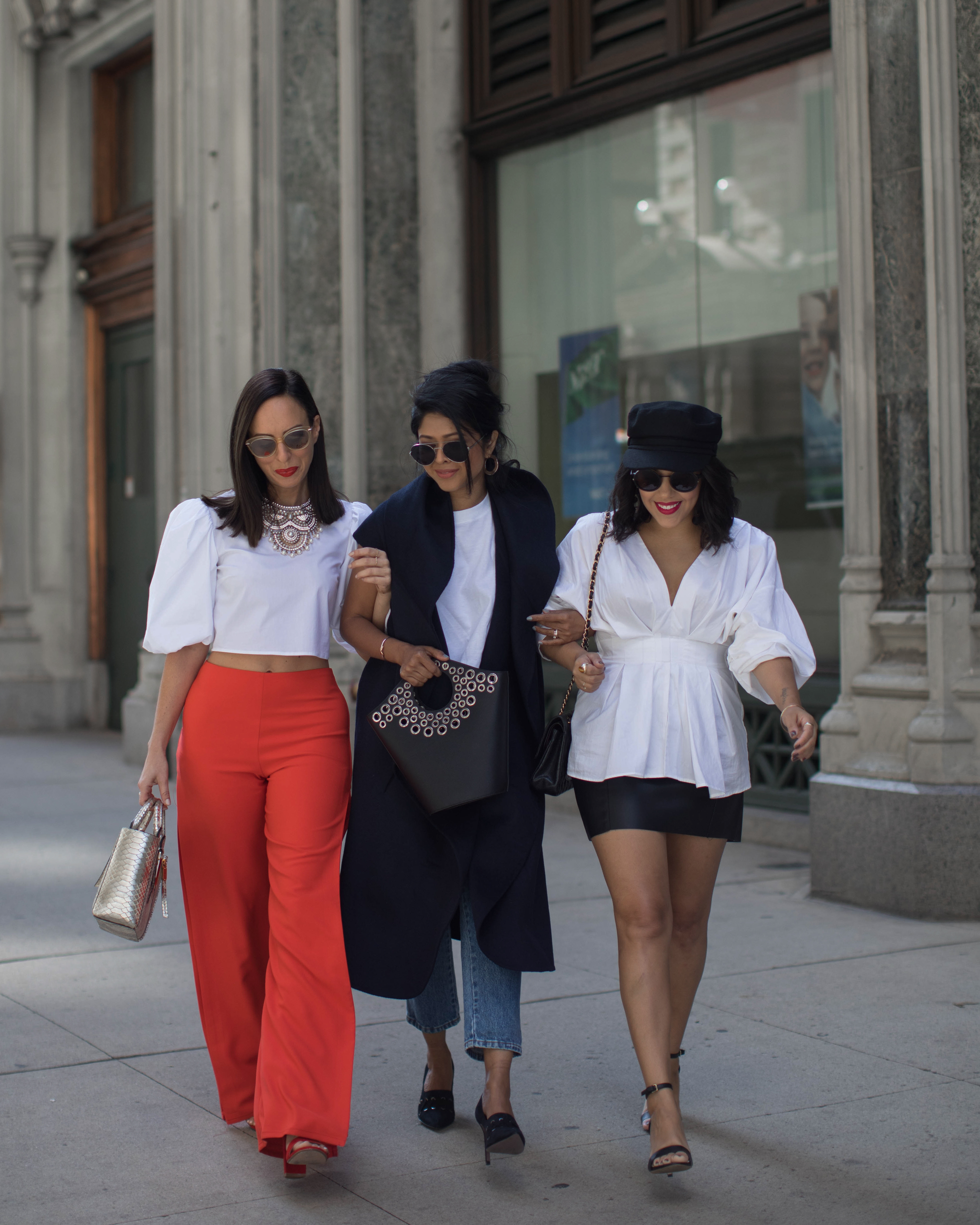 naty michele walking with sydne summer and sheryl luke