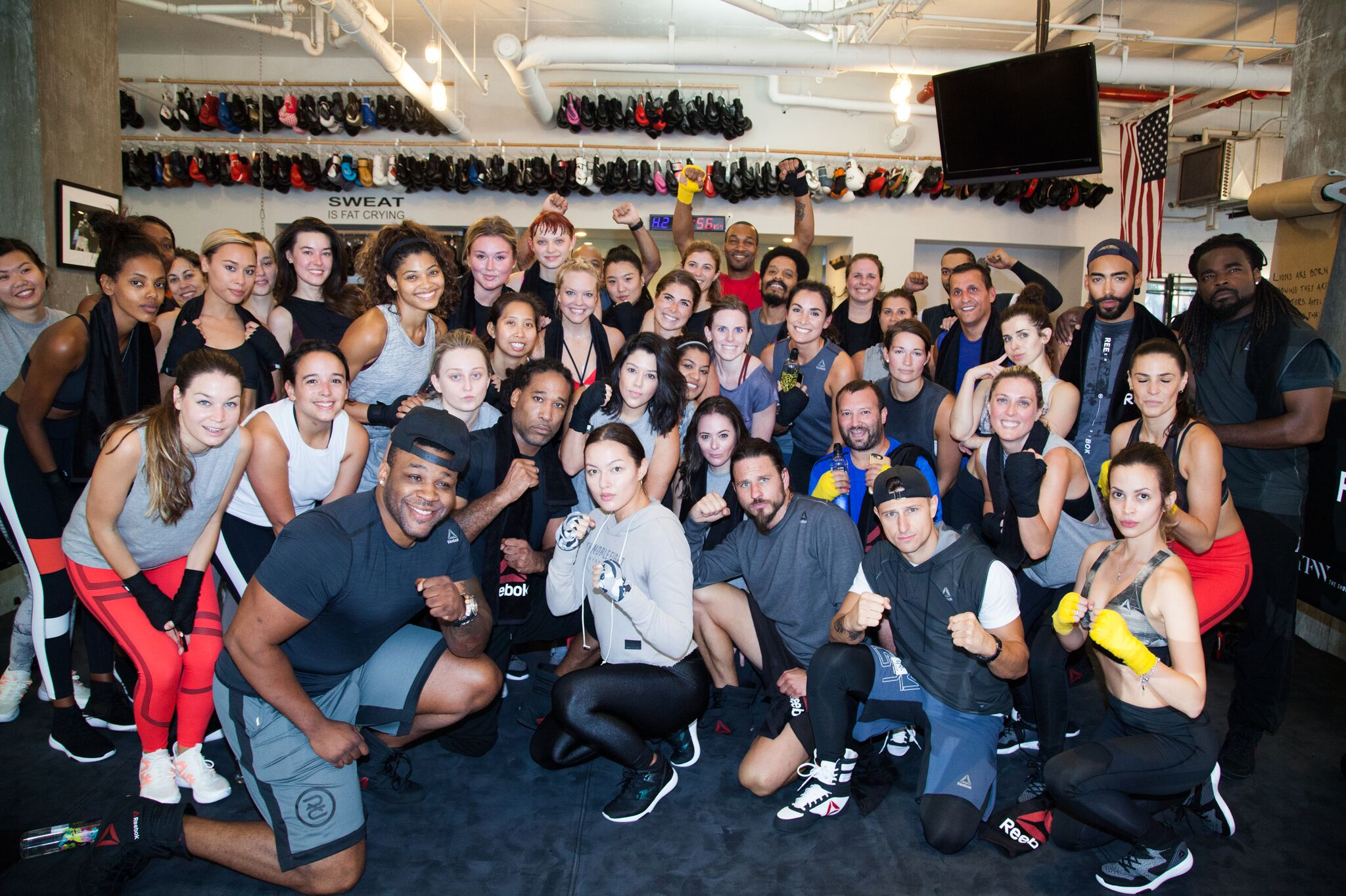 Naty Michele at the Reebok Boxing Class at NYFW