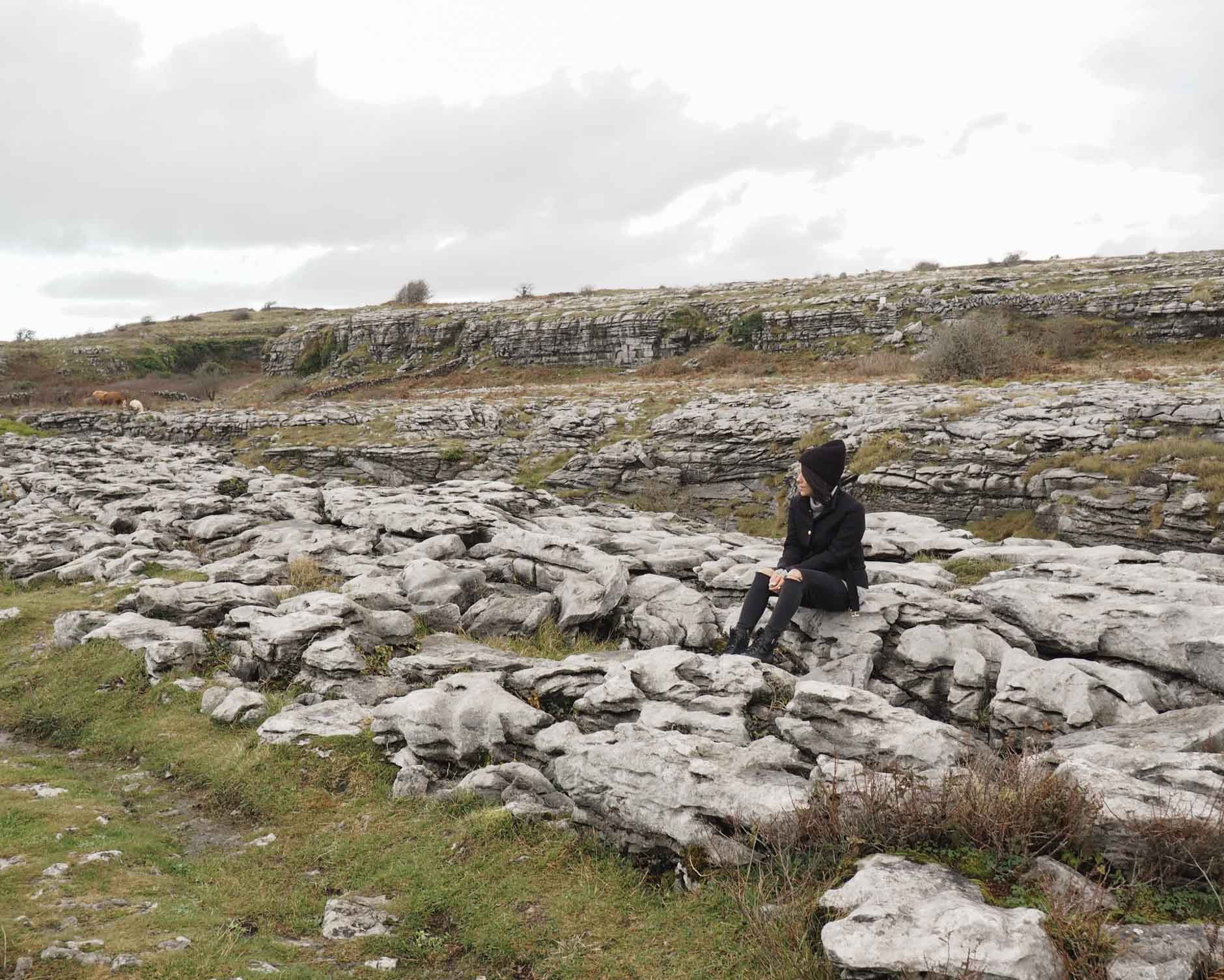 lifestyle blogger naty michele in ireland at the burren