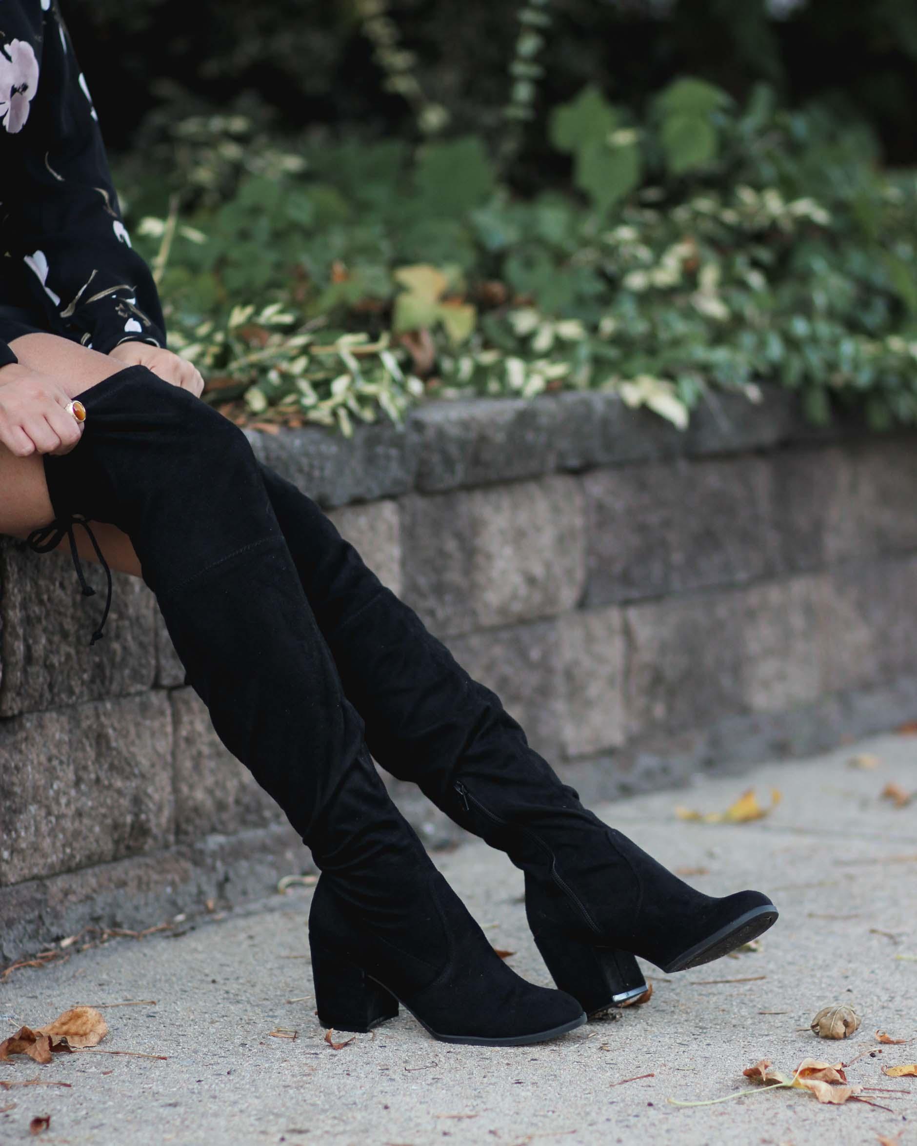 close up of lifestyle blogger naty michele OTK boots