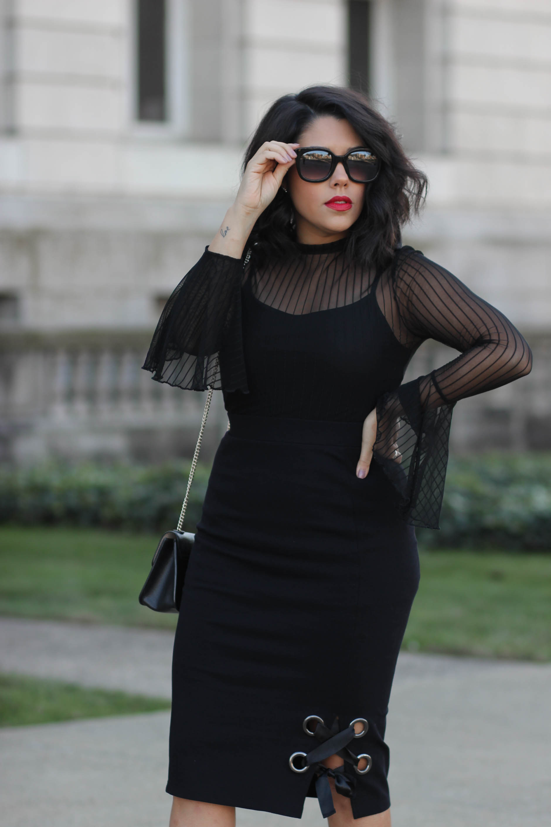 Lifestyle blogger Naty Michele wearing Project Runway and JCPenney collection