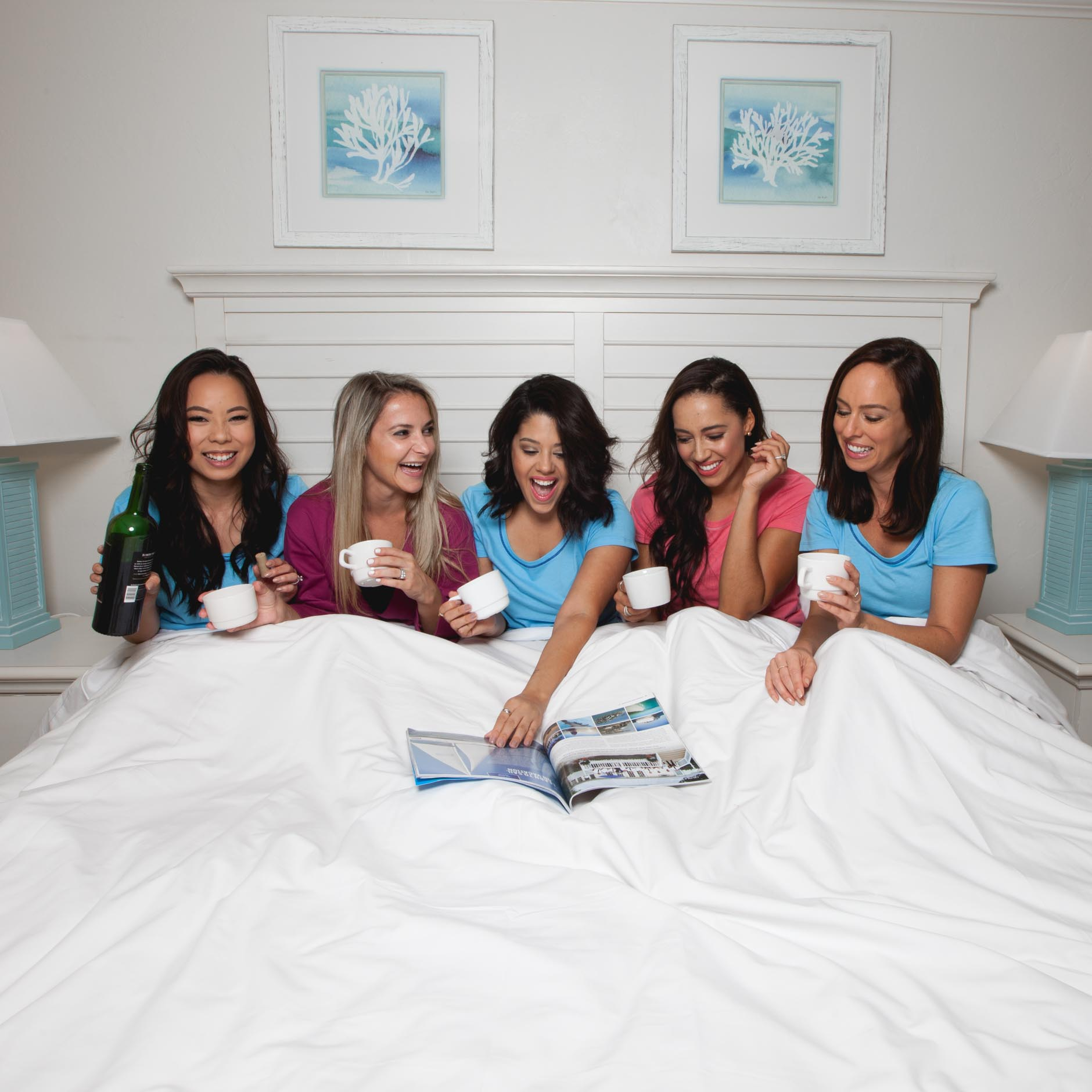 Lifestyle blogger Naty Michele having pajama party with other bloggers