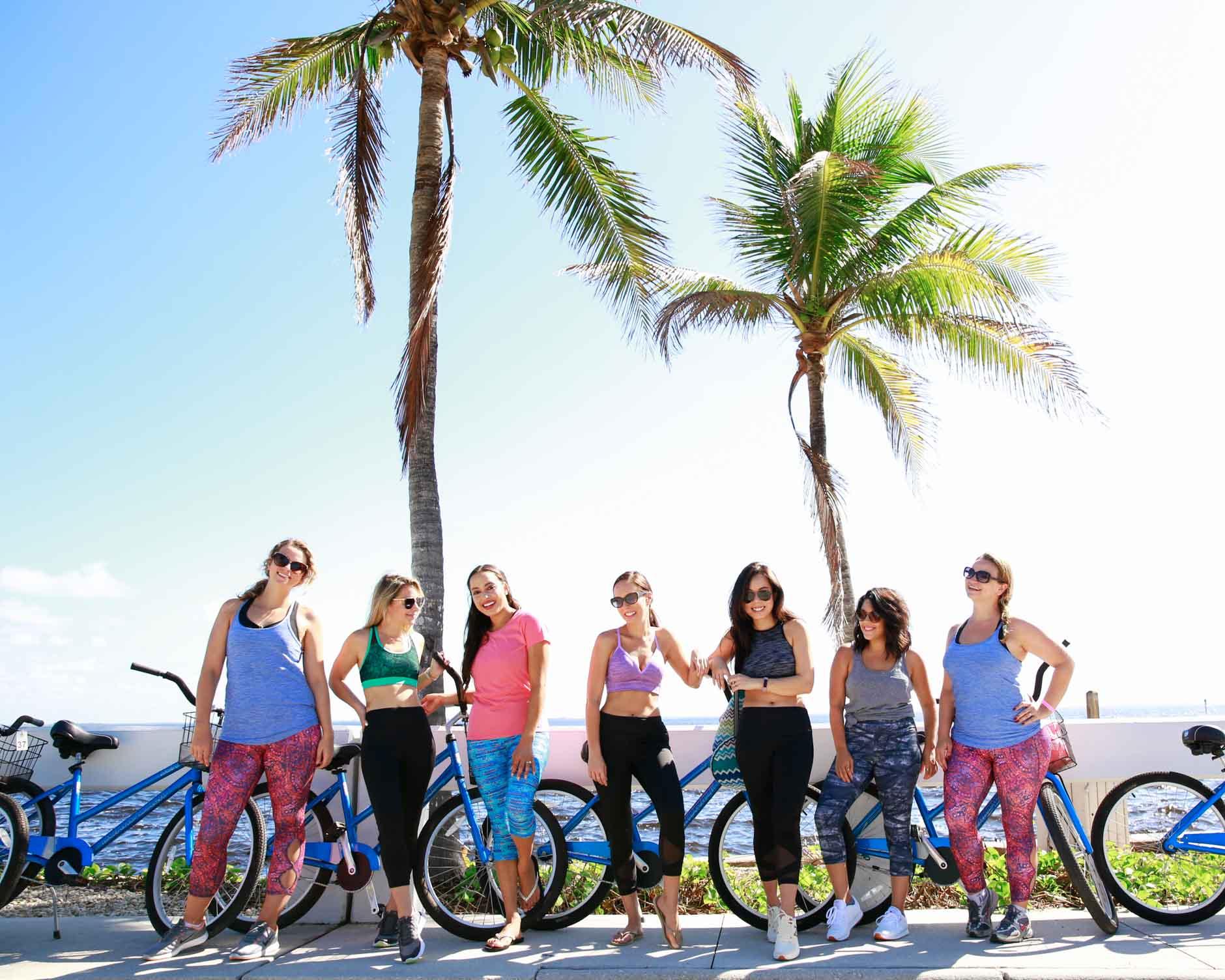lifestyle bloggers wearing jockey and bike riding