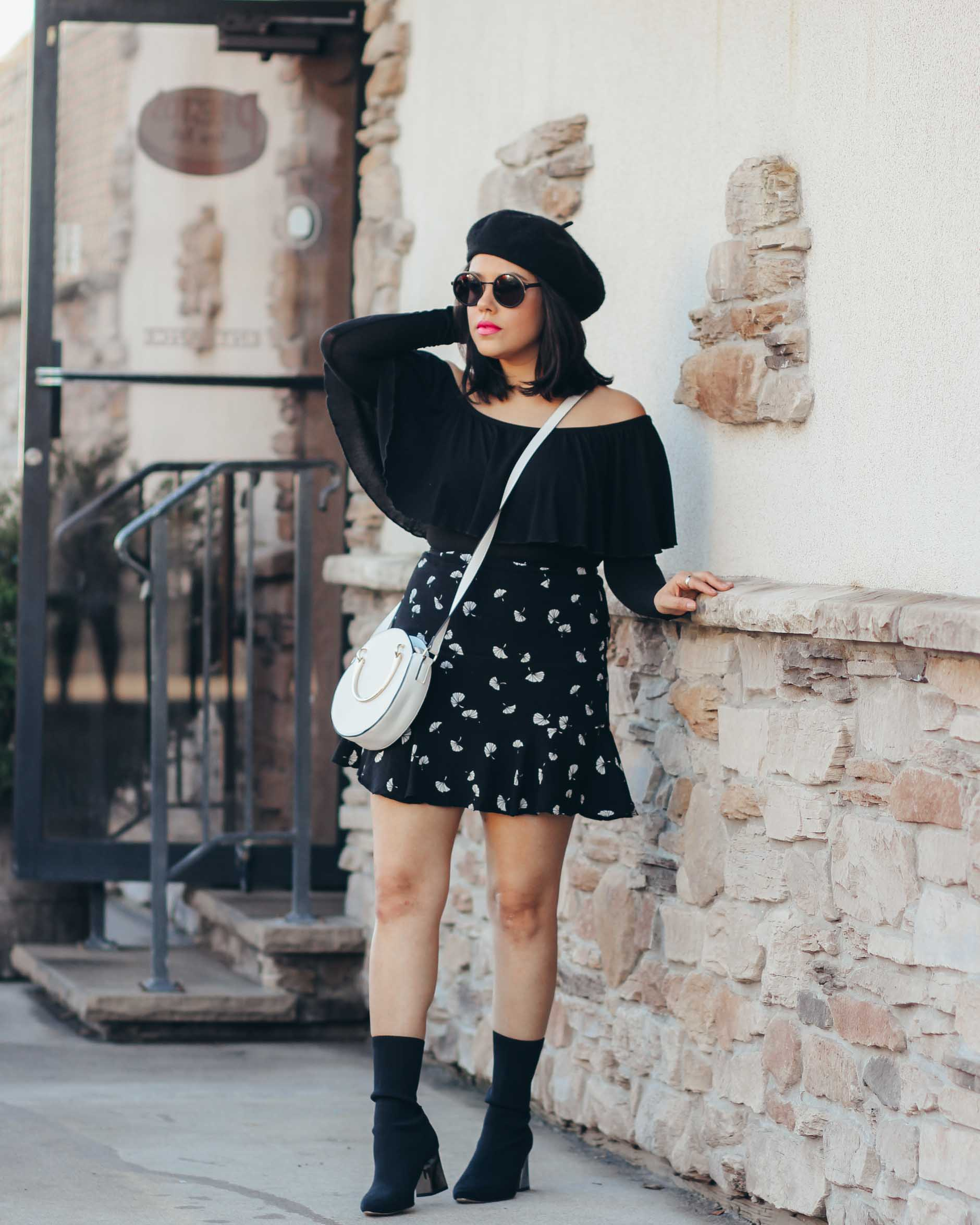 naty michele wearing a parisian style outfit
