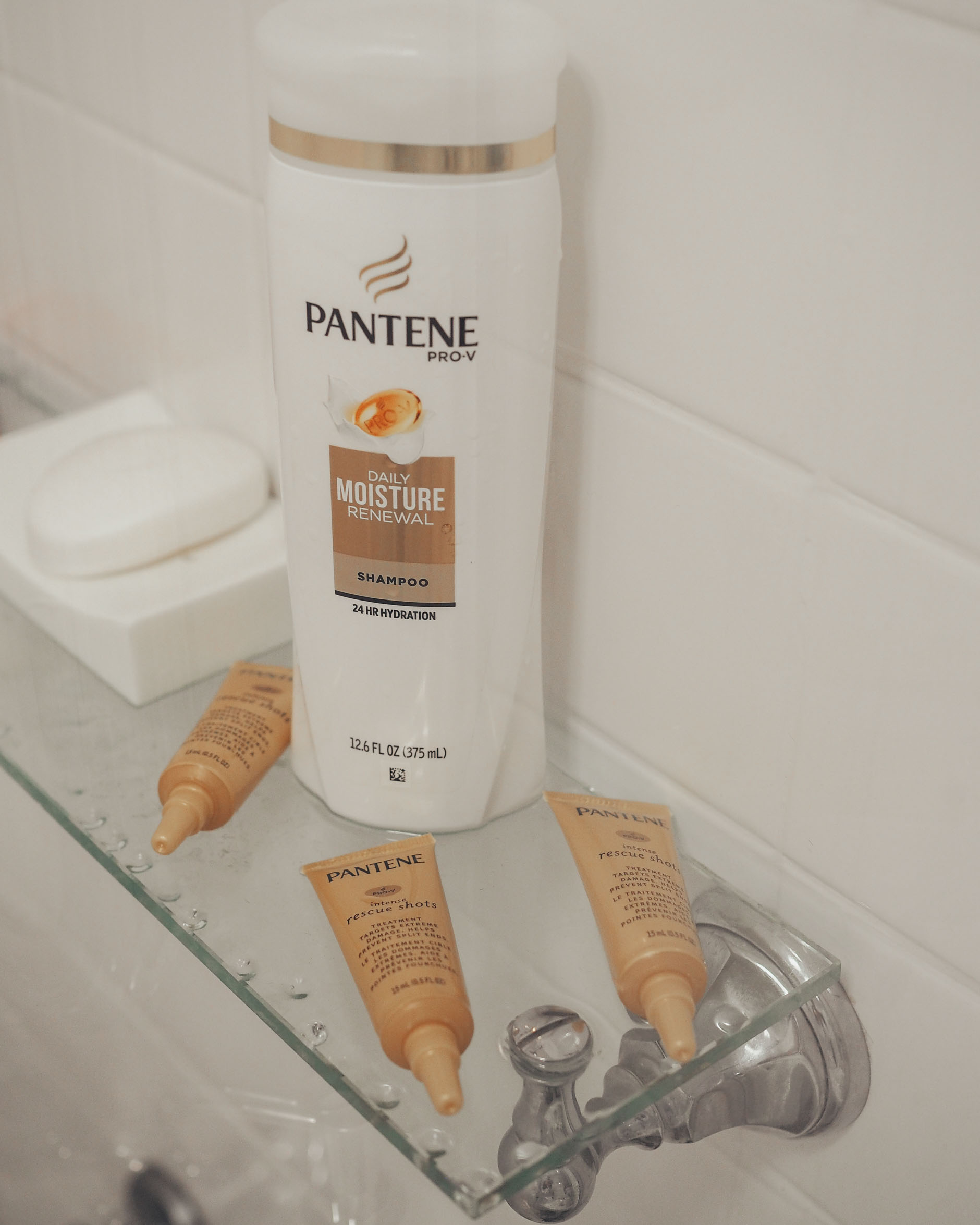 pantene shampoo and rescue shots