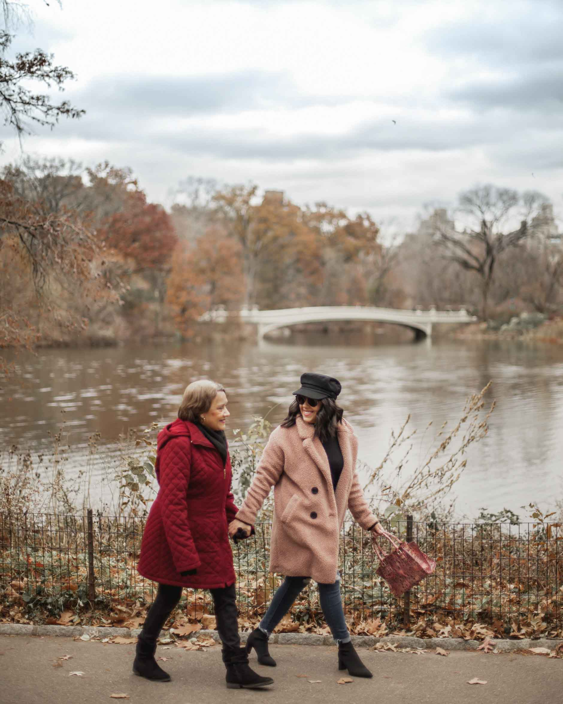 naty michele walking with her mom in central park