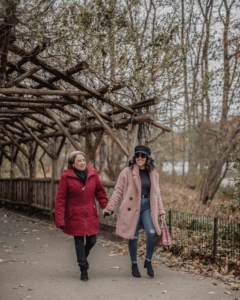 naty michele and her mom in central park