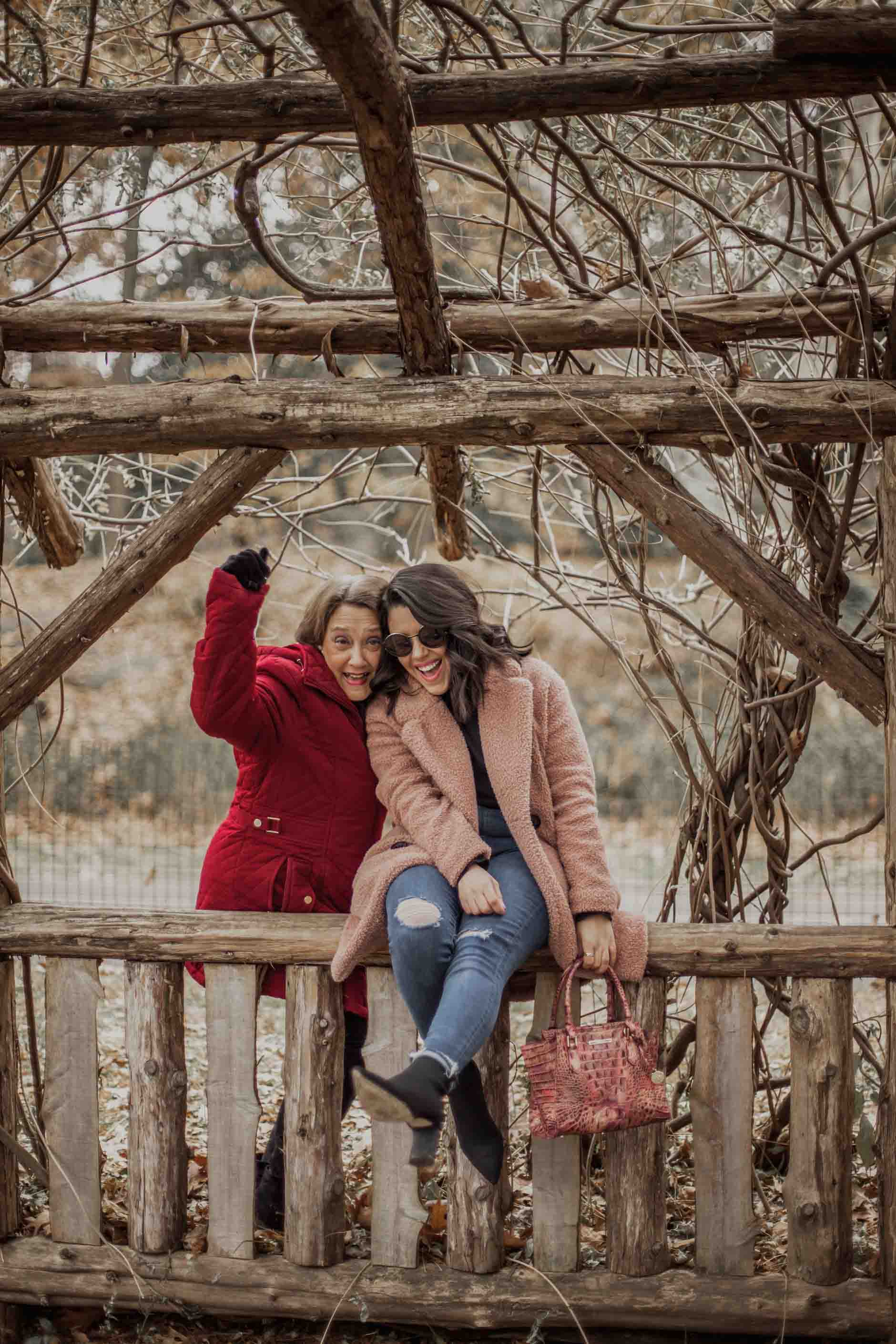 naty michele and her mom at central park