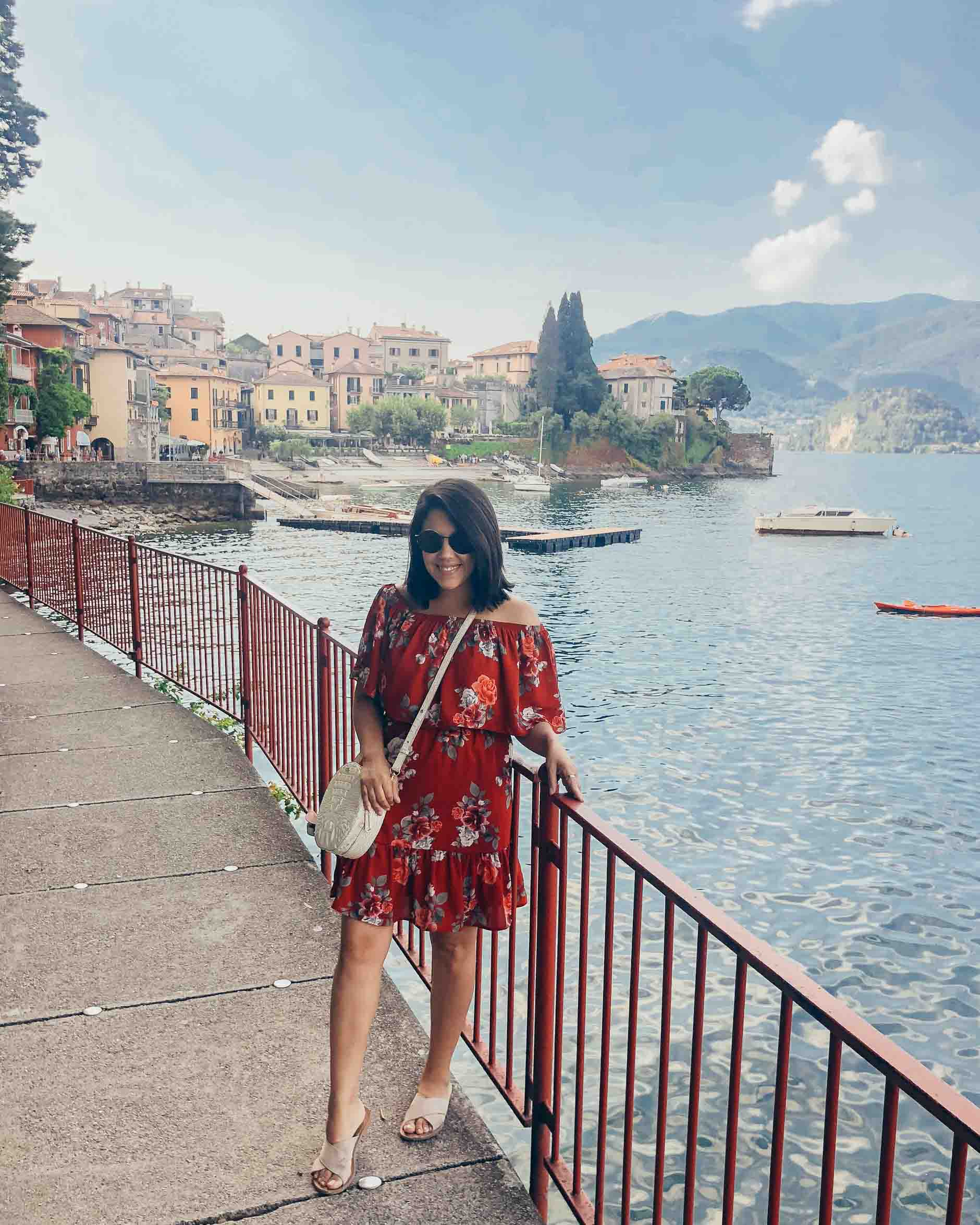 naty michele solo travel in lake como