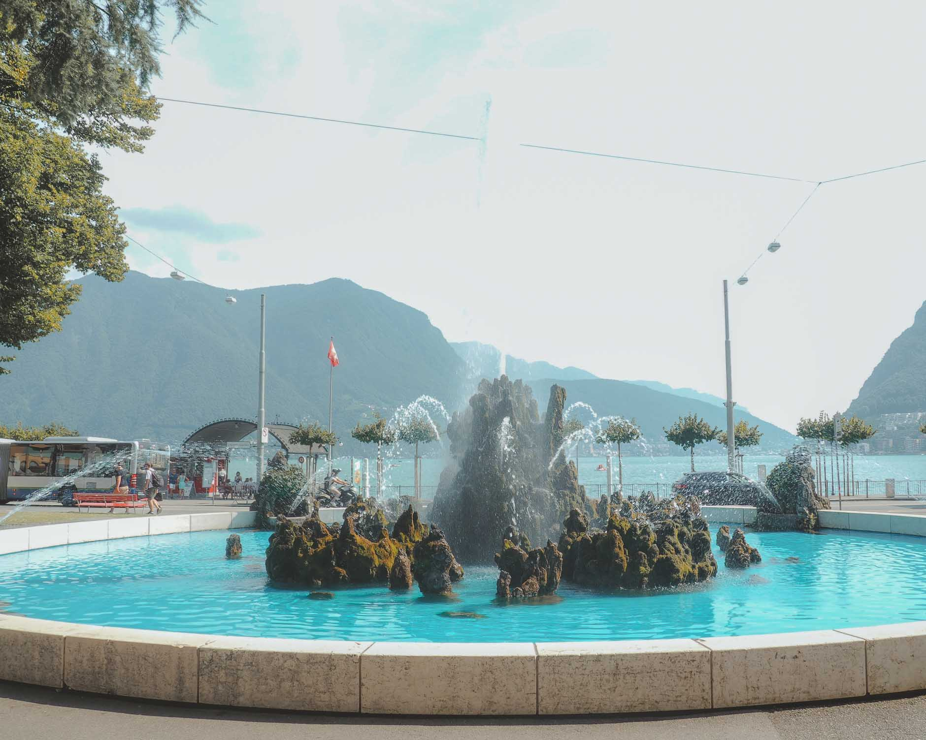 fountain in lugano switzerland