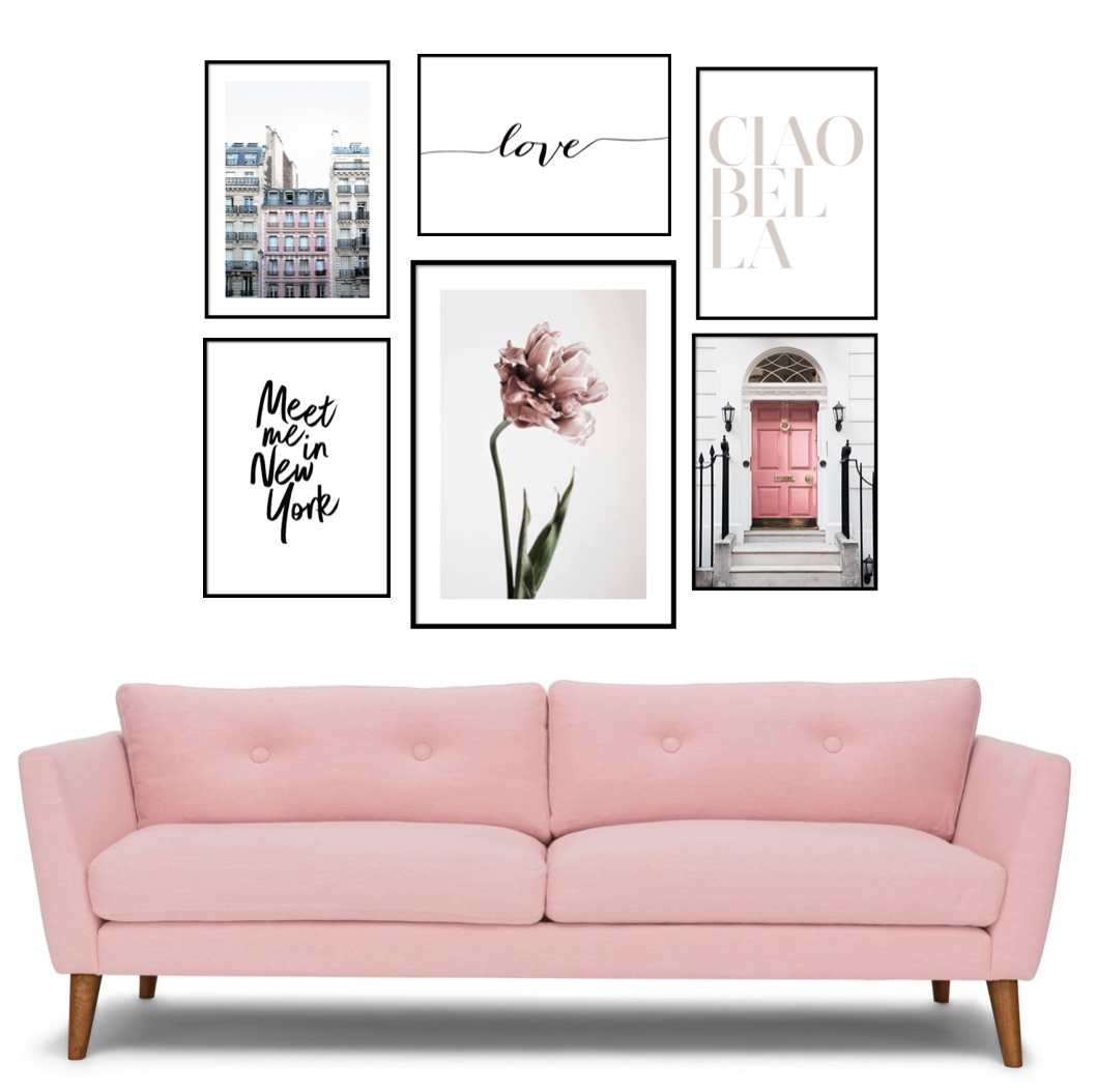 naty michele living room gallery wall