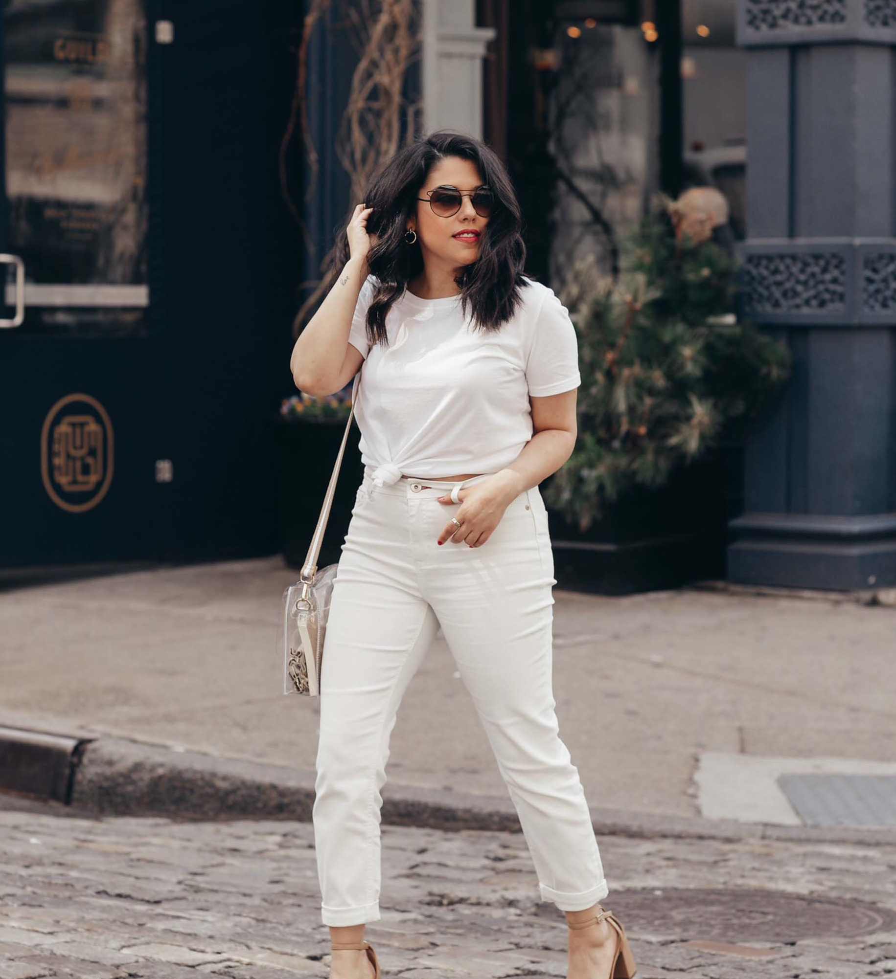 naty michele in white outfit for we dress america